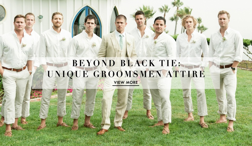 Groomsmen outfit ideas that aren't tuxedos or dark suits