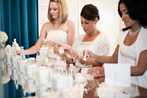 Guests choose scents for perfume