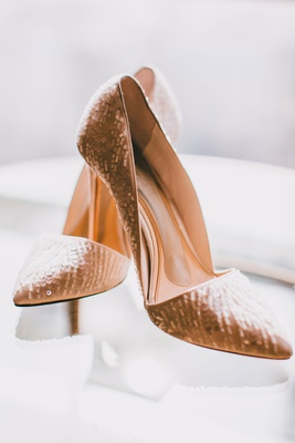 Vince Camuto shoes for wedding day sequin pumps for bride