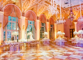 The Breakers in Palm Beach checkered dance floor