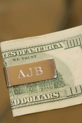 Engraved money clip for groomsman gift