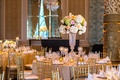 floral centerpieces with blush and peach roses, green hydrangeas, ivory hydrangeas