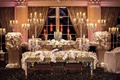 Wedding reception ballroom in New Jersey for Tracy Morgan wedding, flower runner sweetheart table