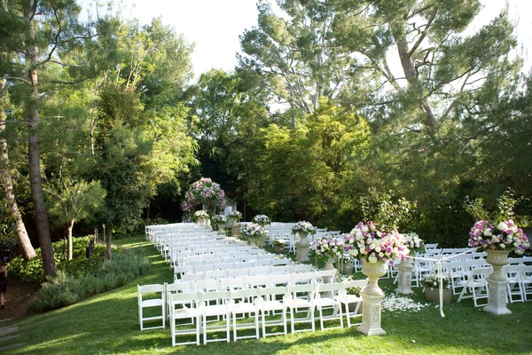 elegant backyard wedding with romantic floral design in california, Backyard Ideas