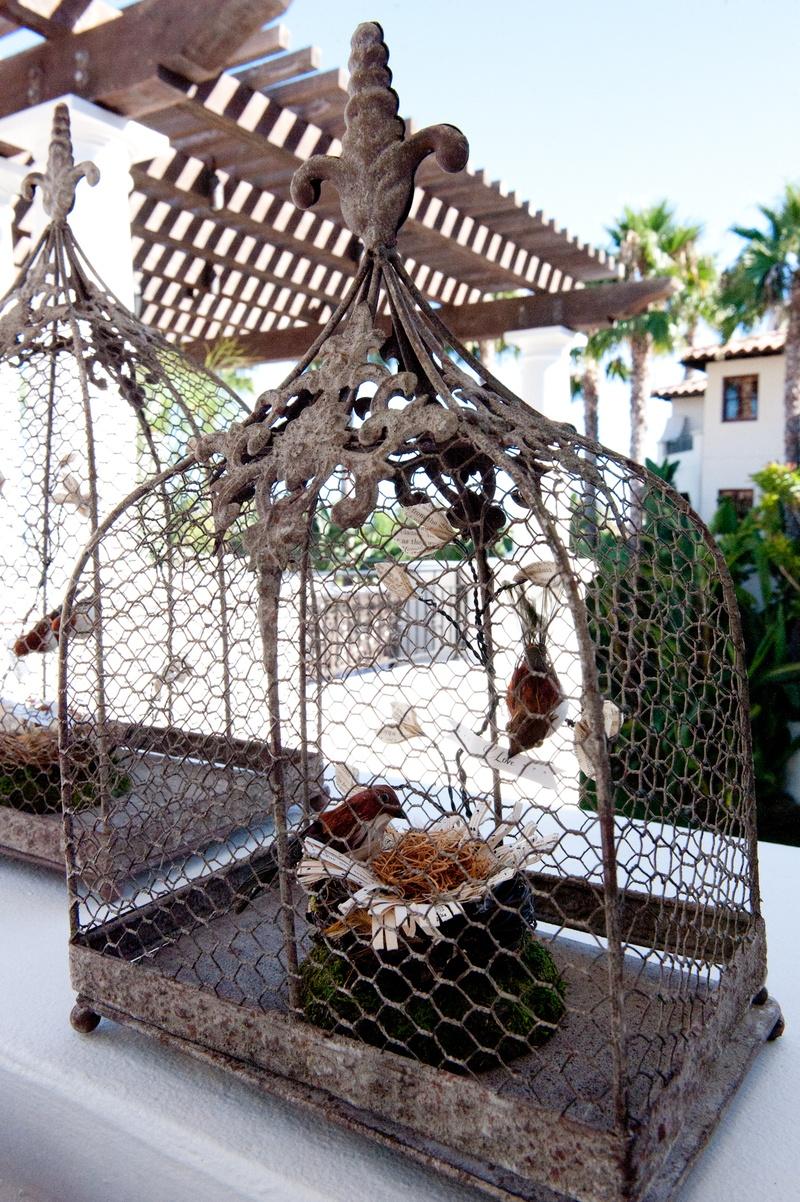 Reception Décor Photos - Bird Cage Décor - Inside Weddings