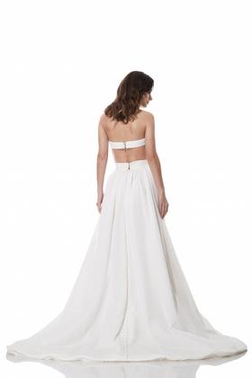 Open strap back Austen dress by Olia Zavozina Fall 2016