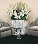 Plush gray chairs for resting at wedding reception