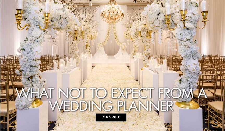 what not to expect from a wedding planner wedding advice
