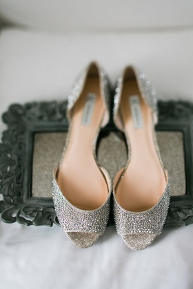 Silver rhinestone crystal peep toe pumps stuart weitzman wedding heels