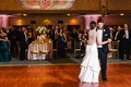 bride in lela rose, groom in michael kors, first dance at fox theatre in atlanta