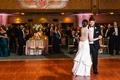 bride in lela rose, groom in michael kors, first dance at fox theatre in atlanta