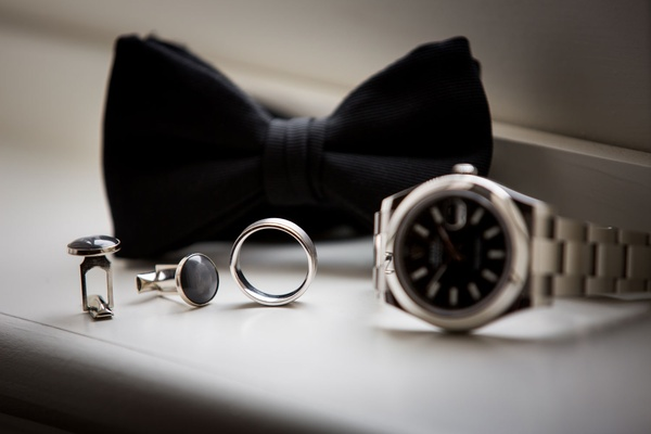 Wedding accessories ring cuff links watch bow tie wedding groom accessories fashion