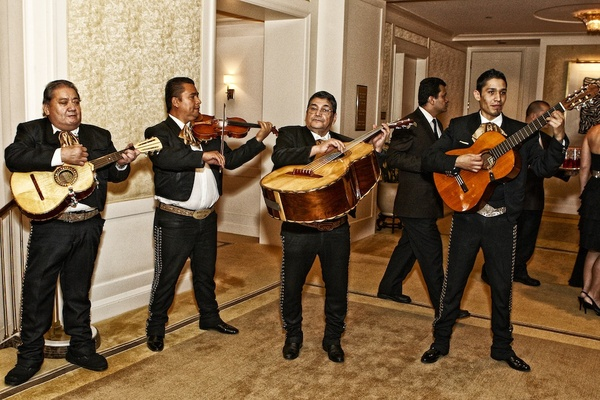 Mexican wedding mariachi band at hotel venue