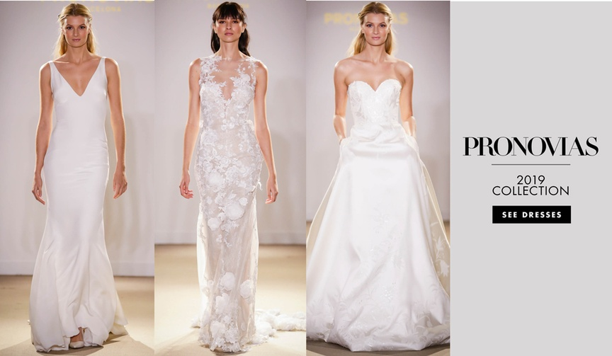 Atelier Pronovias 2019 bridal collection wedding dresses bridal gowns rocky barnes in attendance