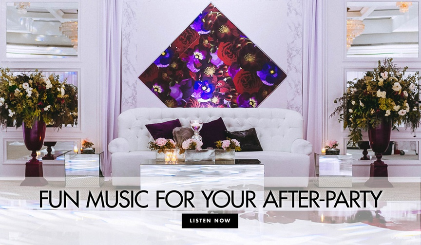 Fun music for your after party wedding reception