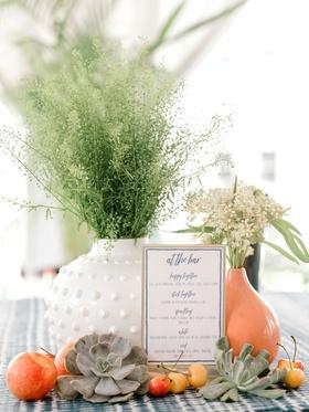 bridal shower bar menu at the bar signature cocktails mocktail sparkling white red wine fresh fruit