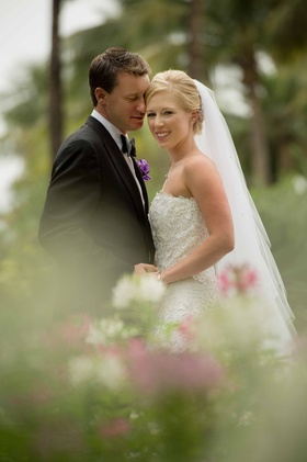 Pro golfer Morgan Pressel with husband on wedding day