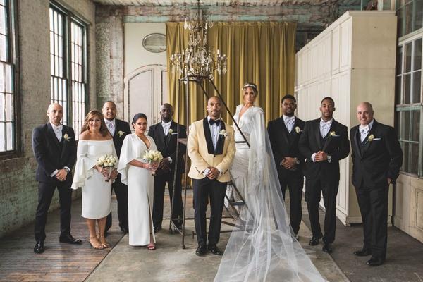 pia toscano american idol jimmy ro smith jennifer lopez wedding party bridesmaids groomsmen dress