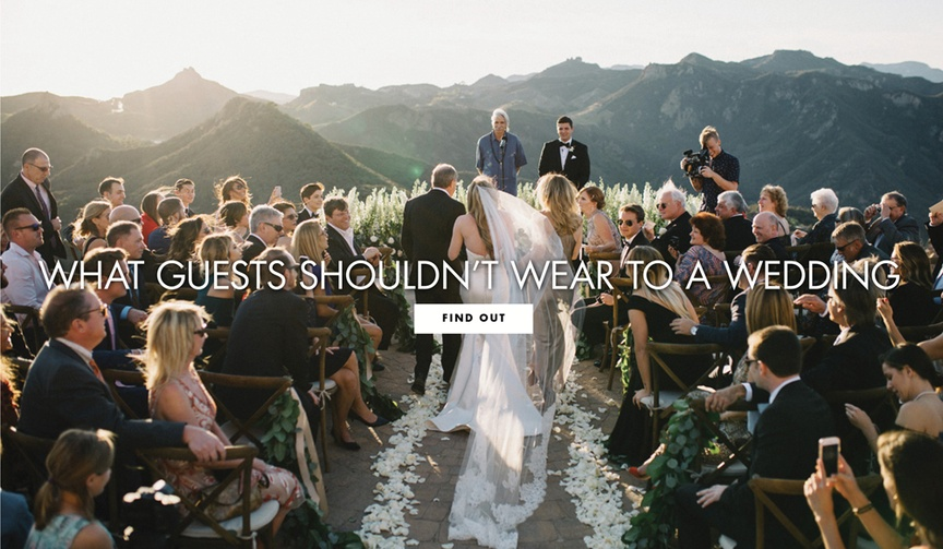 what not to wear to a wedding, what wedding guests should not wear