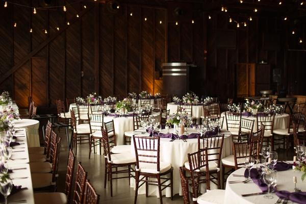 Lyndsy Fonseca and Noah Bean wedding ceremony vineyard wedding reception setting wood walls white