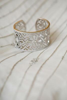 JudeFrances gold cuff with diamonds