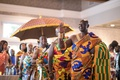 wedding reception ghana royal family traditional drums honorary seating of royal family reception