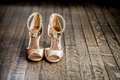 badgley mischka bridal shoes sandals in blush with bedazzled angle straps