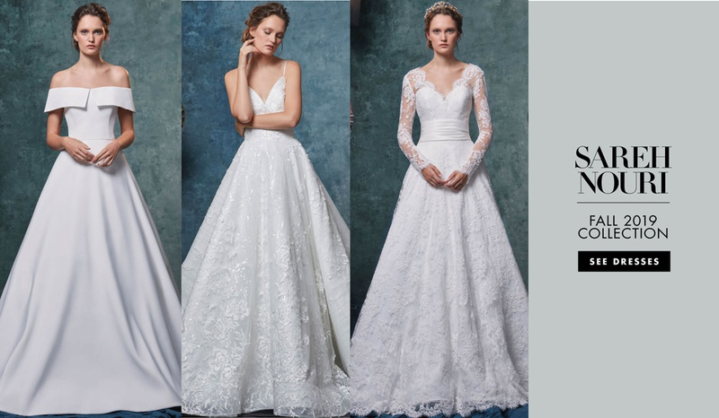 Sareh Nouri fall 2019 bridal collection wedding dress bridal fashion week hollywood inspired gowns