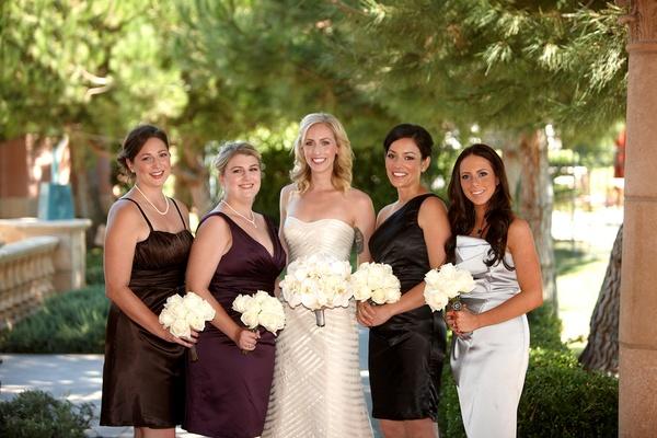 Bride with bridesmaids at The Grand Del Mar