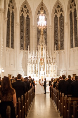 wedding at St. James Chapel at Quigley Seminary for Chicago Archdiocese