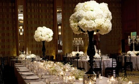 Black and white dinner table decor