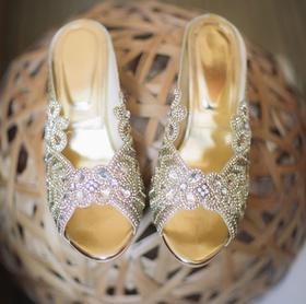 bridal wedding shoes jewel peep toe heels for indian japanese wedding ceremony