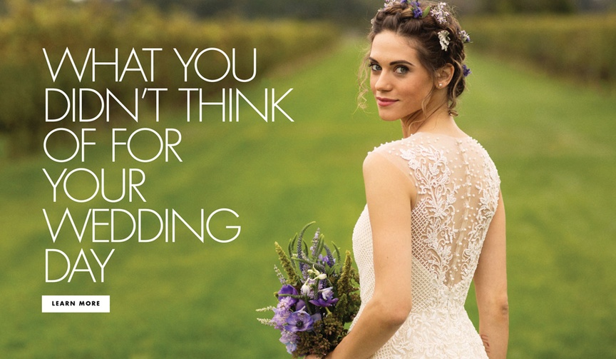 What you didn't think of for your wedding day