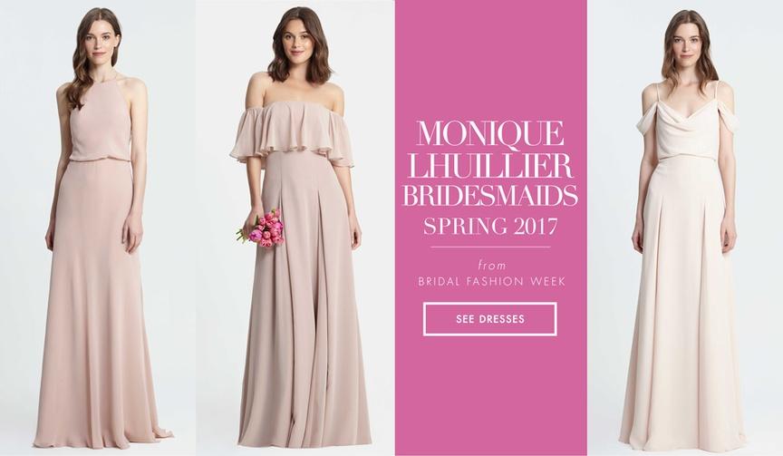Monique Lhuillier Bridesmaids spring 2017 bridesmaid dresses