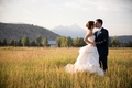 Wedding dress with bustle and Grand Teton