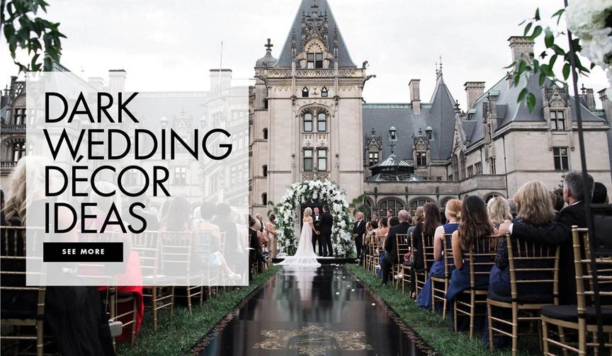 Dark wedding decor ideas for your ceremony and reception