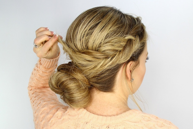 Surprising Wedding Day Hairstyles Fishtail Braid Wrapped Bun Tutorial Short Hairstyles For Black Women Fulllsitofus
