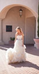 Custom Vera Wang wedding dress with sparkles