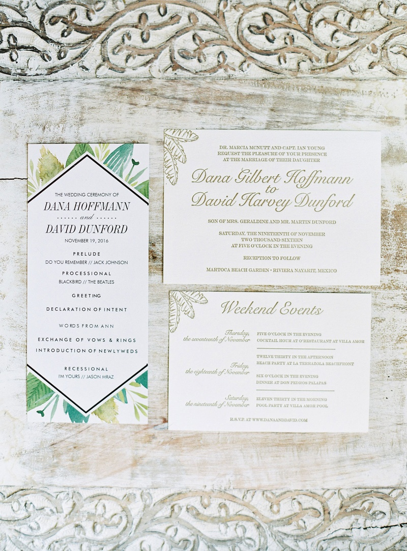 Invitations & More Photos - Sophisticated Tropical Stationery ...