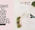 wedding invitation mistakes to avoid