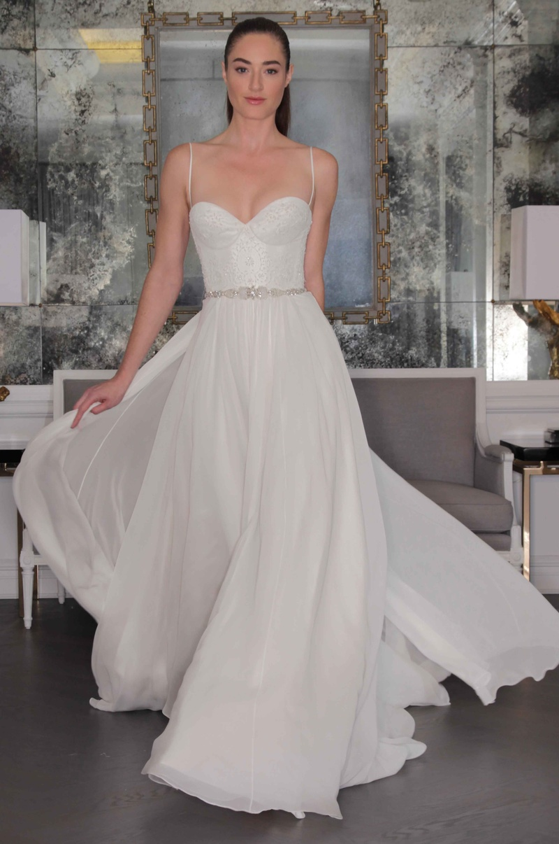 Wedding dresses photos style rk6459 by romona kevea inside romona keveza luxe bridal fall 2016 chiffon wedding dress with spaghetti straps ombrellifo Image collections