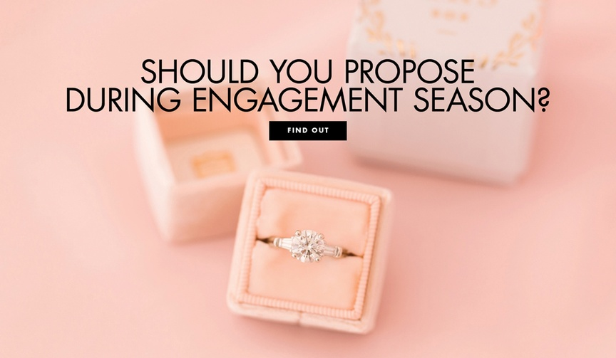 Should you propose during engagement season?