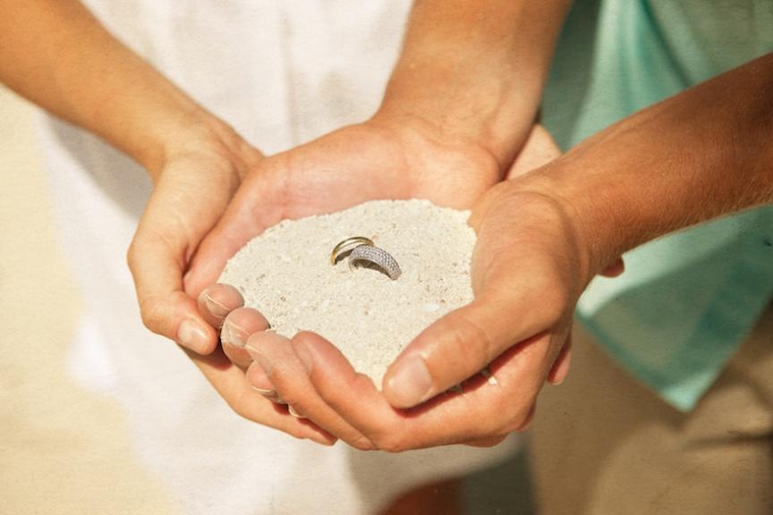 Biras Creek Resort wedding rings tropical package