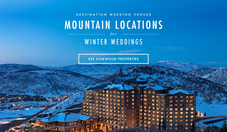 Mountain wedding winter wedding locations