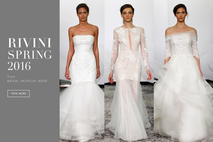 Wedding dresses from the Rivini spring 2016 collection