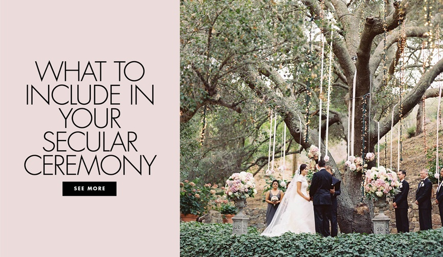 what to include in a secular ceremony to make it longer