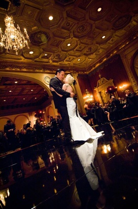 Brandon Saller, drummer of Atreyu, dances first dance with his bride
