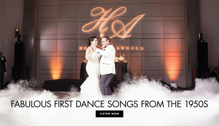 Fabulous first dance songs from the 1950s classic wedding song ideas