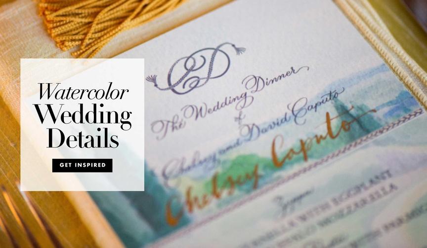 Wedding decoration ideas watercolor details