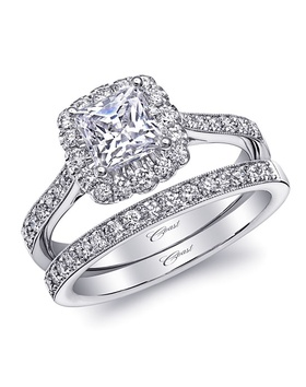 Charisma collection square halo and matching band
